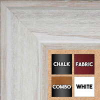 BB1514-1 White Distressed Barnwood - Extra Extra Large Wall Board Cork Chalk Dry Erase