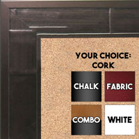 BB1515-2 Bronze Oxidized Metallic Distressed Industrial Look Extra Large Custom Cork Chalk Or Dry Erase Board