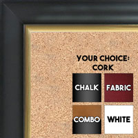 BB1520-4 Black With Gold Trim Large Wall Board Cork Chalk Dry Erase