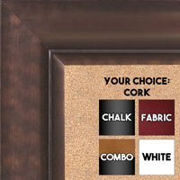 BB1521-5 Bronze Extra Large Wall Board Cork Chalk Dry Erase