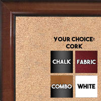 BB1523-2  Pecan Custom  Medium  Wall Board Cork Chalk Dry Erase