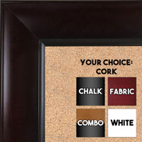 BB1525-1 Espresso Coffee Brown - Extra Large  Wall Board Cork Chalk Dry Erase