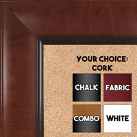 BB1525-2 Pecan - Extra Large  Wall Board Cork Chalk Dry Erase