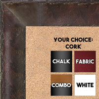 BB1530-2  Distressed Burlwood Walnut Coffee Brown Custom  Large  Wall Board Cork Chalk Dry Erase