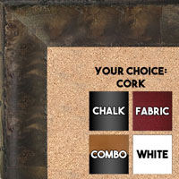 BB1530-5  Distressed Burlwood Brown Taupe Custom  Large  Wall Board Cork Chalk Dry Erase
