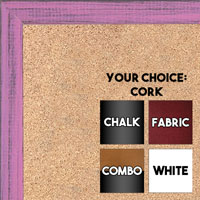 BB1532-10 Distressed Soft Pink -  Small Custom Cork Chalk or Dry Erase Board