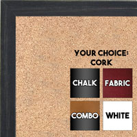 BB1532-1 Distressed Black -  Small Custom Cork Chalk or Dry Erase Board