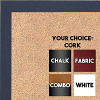 BB1532-5 Distressed Dark Blue - Small Custom Cork Chalk or Dry Erase Board