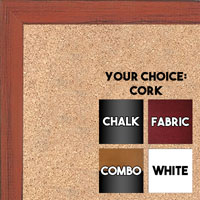 BB1532-8 Distressed Orange  -  Small Custom Cork Chalk or Dry Erase Board