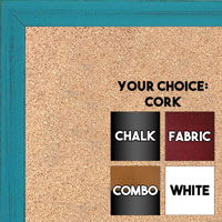 BB1532-9 Distressed Turquoise -  Small Custom Cork Chalk or Dry Erase Board