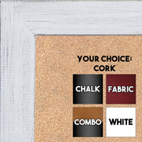 BB1533-2 Distressed Soft White - Medium Custom Cork Chalk or Dry Erase Board