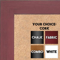BB1533-4 Distressed Red - Medium Custom Cork Chalk or Dry Erase Board