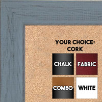 BB1533-6 Distressed Blue Gray - Medium Custom Cork Chalk or Dry Erase Board