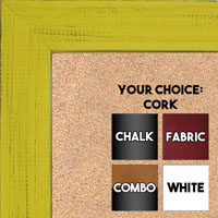 BB1533-7 Distressed Yellow - Medium Custom Cork Chalk or Dry Erase Board