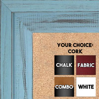 BB1534-11 Distressed Soft Blue - Extra Large Custom Cork Chalk or Dry Erase Board