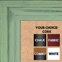 BB1534-12 Distressed Soft Green - Extra Large Custom Cork Chalk or Dry Erase Board
