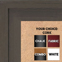 BB1534-3 Distressed Dark Brown - Extra Large Custom Cork Chalk or Dry Erase Board