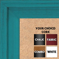 BB1534-9 Distressed Turquoise - Extra Large Custom Cork Chalk or Dry Erase Board