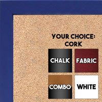 BB1538-2 Purple - Small Custom Cork Chalk or Dry Erase Board