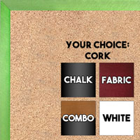 BB1540-4 Thin Metal Charcoal Grey Custom Cork Chalk or Dry Erase Board Small To Large