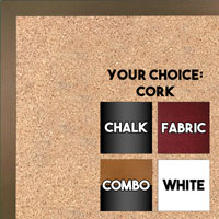 BB1540-20 Thin Metal Frosted Bronze Custom Cork Chalk or Dry Erase Board Small To Large