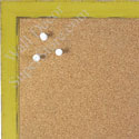 BB1541-4 Distressed Yellow  - Small Custom Cork Chalk or Dry Erase Board