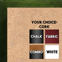 BB1544-11 Dark Green - 3/4 Inch Wide X 1 1/4 Inch High - Small Custom Cork Chalk Dry Erase