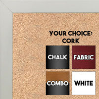 BB1544-8 White - 3/4 Inch Wide X 1 1/4 Inch High - Small Custom Cork Chalk Dry Erase