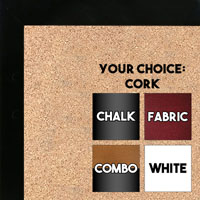 BB1544-9 Black - 3/4 Inch Wide X 1 1/4 Inch High - Small Custom Cork Chalk Dry Erase
