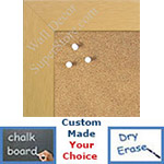 "BB1545-4 Natural Clear 1 3/4"" Wide Value Price Medium To Extra Large Custom Cork Chalk Or Dry Erase Board"