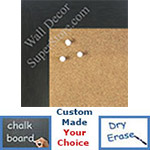 "BB1545-6 Charcoal Gray 1 3/4"" Wide Value Price Medium To Extra Large Custom Cork Chalk Or Dry Erase Board"