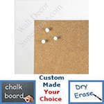 "BB1545-8 Classic White 1 3/4"" Wide Value Price Medium To Extra Large Custom Cork Chalk Or Dry Erase Board"