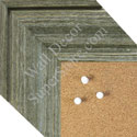 BB1547-2 Distressed Silver Gray Driftwood - Medium To Extra Extra Large Custom Cork Chalk Or Dry Erase Board