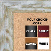 BB1548-4 Distressed White Driftwood - Extra Large  Chalkboard Cork Dry Erase
