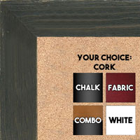 BB1548-5 Distressed Black Driftwood - Extra Large  Chalkboard Cork Dry Erase