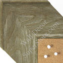 BB1554-3 Distressed Brown Driftwood - Extra Extra Large Chalkboard  Cork  Dry Erase
