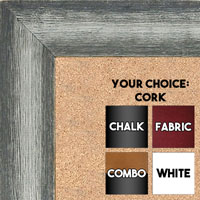 BB1555-1 Distressed Gray / Silver - Extra Large Chalkboard Cork Dry Erase