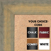 BB1555-2 Distressed Gray / Gold - Extra Large Chalkboard Cork Dry Erase
