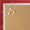 BB1560-1 Pearlized Red With Silver Lip Small To Medium Custom Cork Chalk or Dry Erase Board