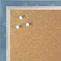 BB1560-3 Pearlized Blue With Silver Lip Small To Medium Custom Cork Chalk or Dry Erase Board