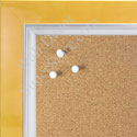 BB1561-5 Pearlized Mustard With Silver Lip Large Custom Cork Chalk or Dry Erase Board
