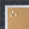 BB1561-6 Pearlized Navy Blue With Silver Lip Large Custom Cork Chalk or Dry Erase Board