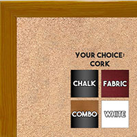 BB1562-2 Gloss Lacquer Yellow Wood Grain Small Custom Cork Chalk or Dry Erase Board