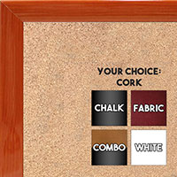 BB1562-4 Gloss Lacquer Orange Wood Grain Small Custom Cork Chalk or Dry Erase Board