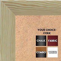 BB1563-1 Gloss Lacquer Natural Clear Wood Grain Large  Custom Cork Chalk or Dry Erase Board