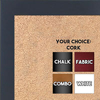 BB1564-1 Navy Blue Small Custom Cork Chalk or Dry Erase Board