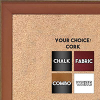 BB1569-4 Small Orange With Top Outside Distressed Accent Custom Cork Chalk or Dry Erase Board
