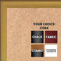 BB1569-5 Small Yellow With Top Outside Distressed Accent Custom Cork Chalk or Dry Erase Board