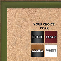 BB1569-6 Small Light Green With Top Outside Distressed Accent Custom Cork Chalk or Dry Erase Board