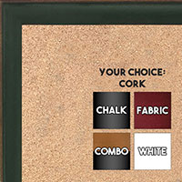 BB1569-7 Small Green With Top Outside Distressed Accent Custom Cork Chalk or Dry Erase Board